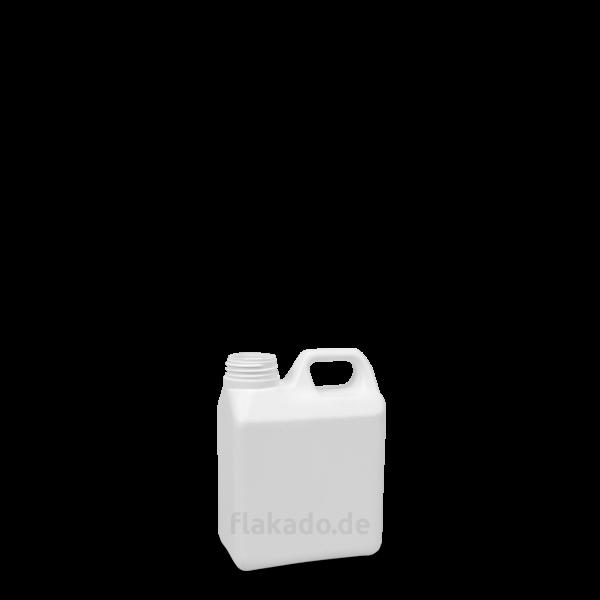 1 Liter Kanisterflasche - weiß - DIN 40 Gewinde